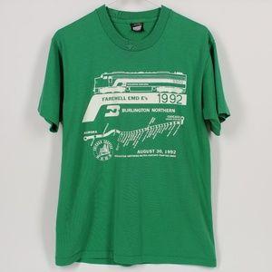 Vintage 92 Burlington Northern Metra Chicago Shirt